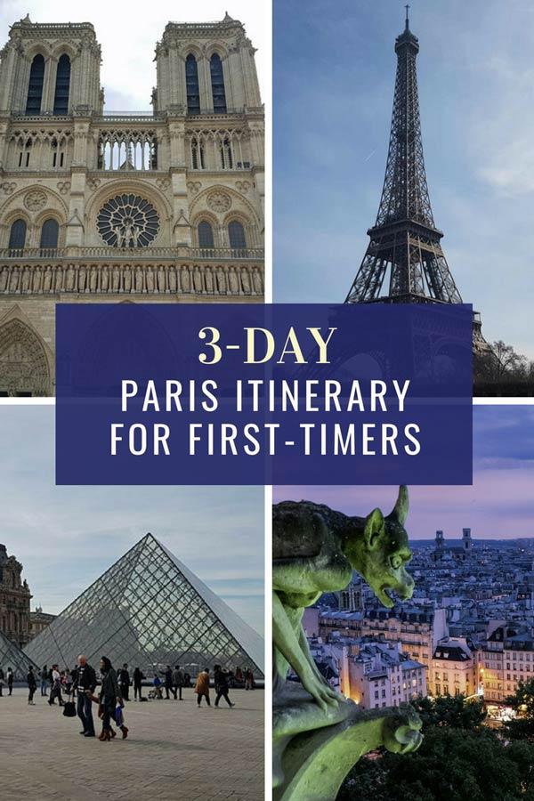 A 3-day Paris itinerary for first timers