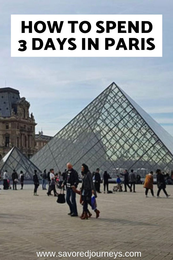 how to spend 3 days in Paris