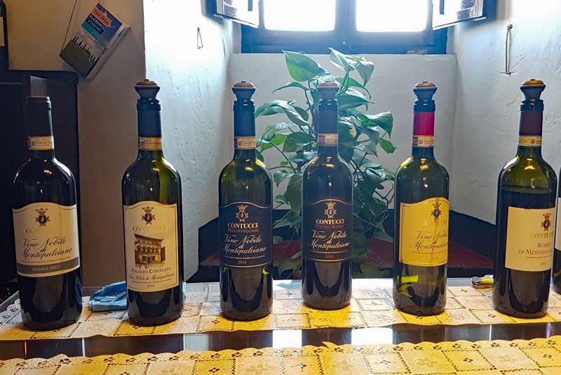 Contucci wine tasting