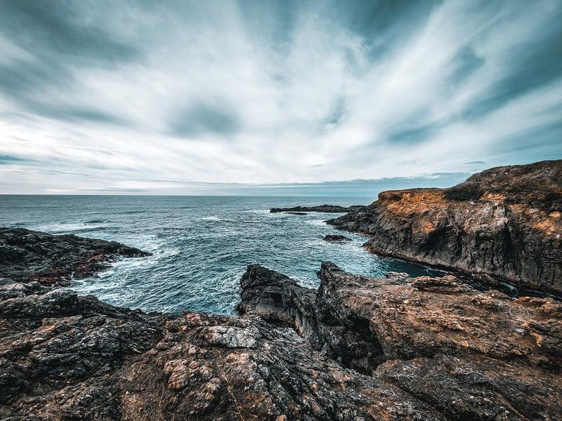 The coastline at Fort Bragg, California