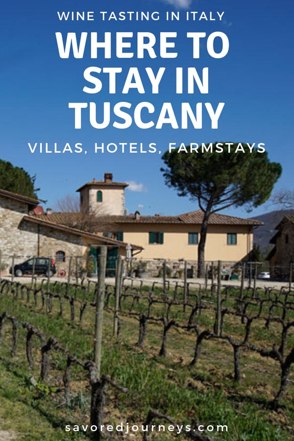 Where to stay in Tuscany for wine tasting