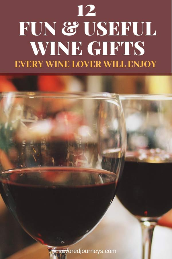 12 fun and useful wine gifts that every wine lover will enjoy #wine
