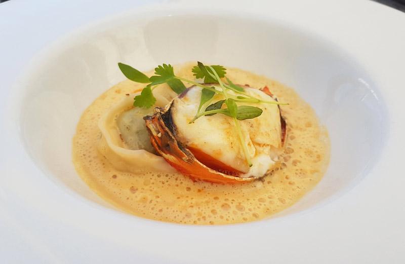 Lobster bisque at d'Arry's Verandah