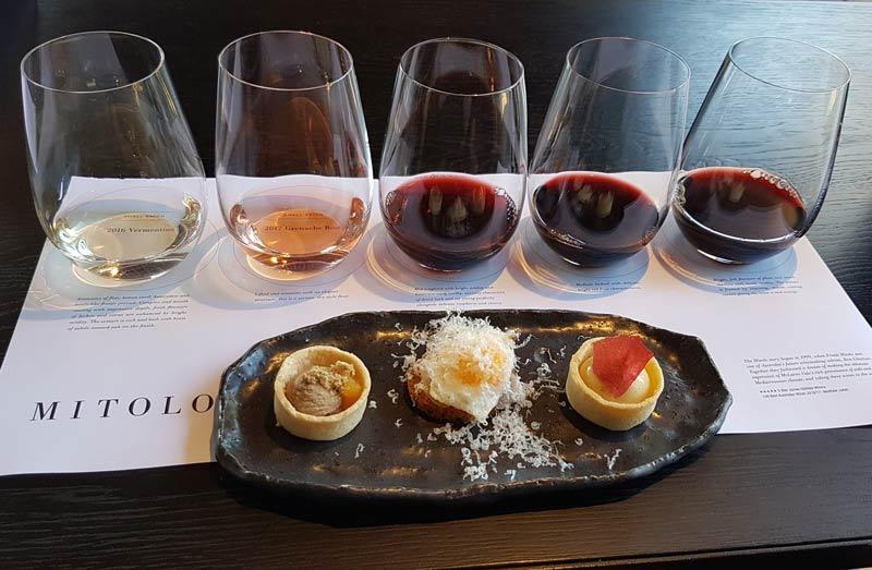 Mitolo premium wine tasting