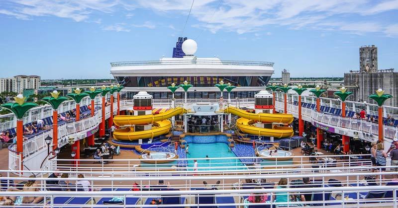 top deck of a cruise ship