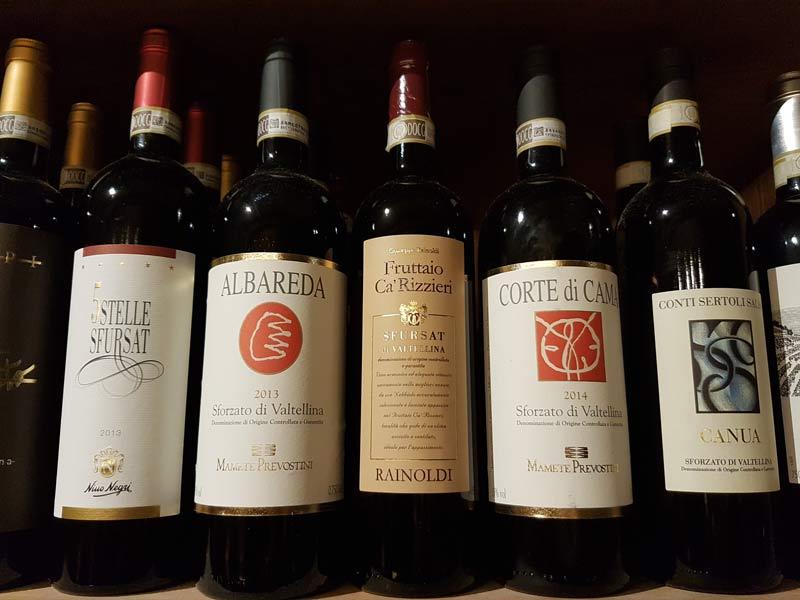 Popular wines from Valtellina