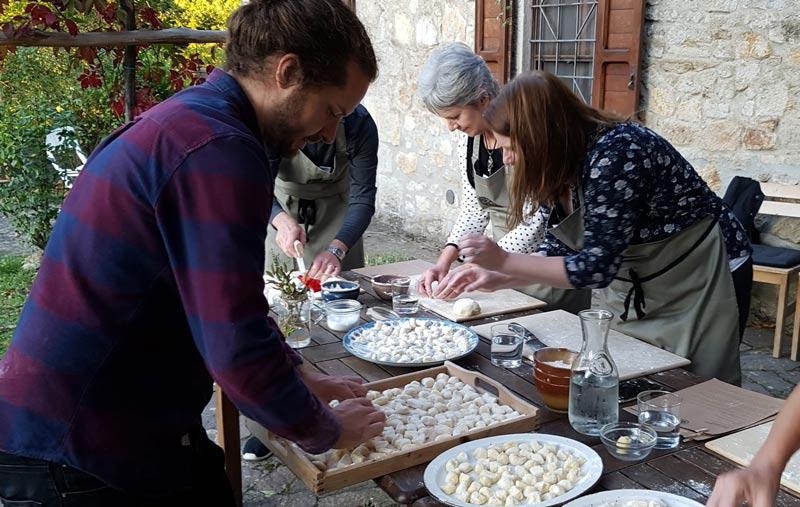 Gnocchi-making workshop led by Oli