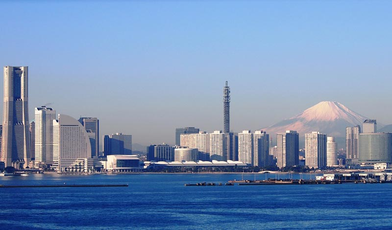 Yokohama and Mt. Fuji