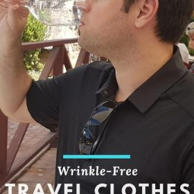 Wrinkle-free men's travel clothing