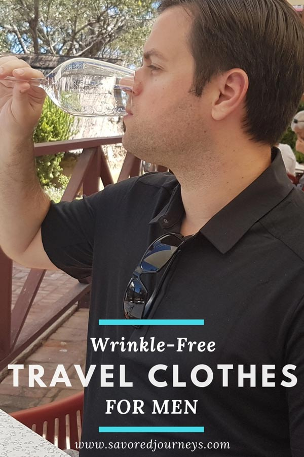 Wrinkle-free men's travel clothing