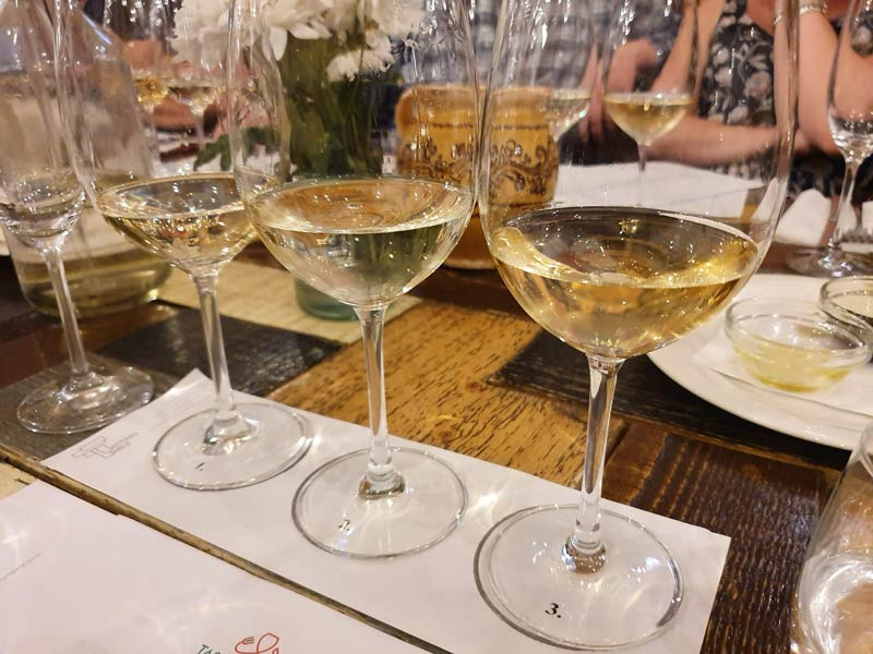 white wine tasting at The Tasting Table