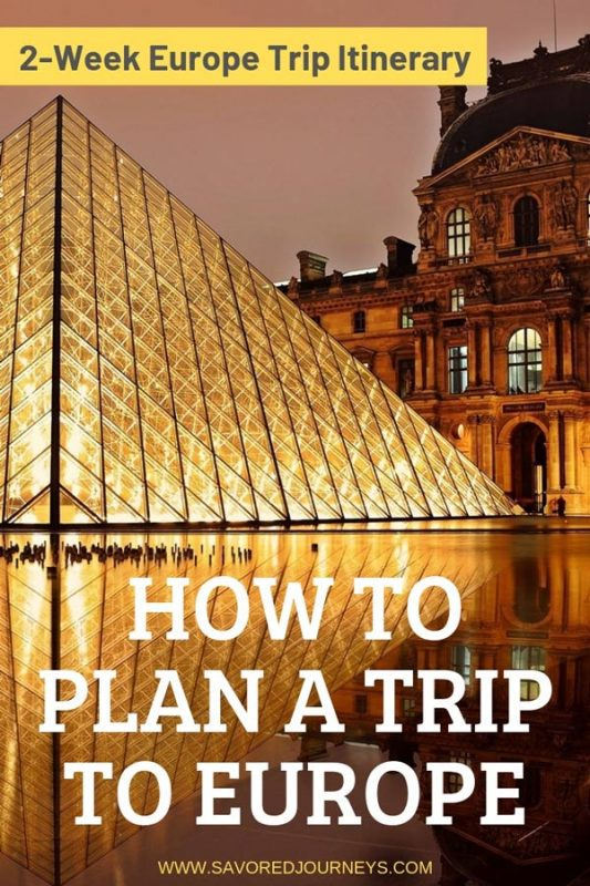 How to plan a trip to Europe + a 2-week itinerary