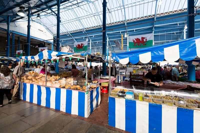 A Welsh farmer's market