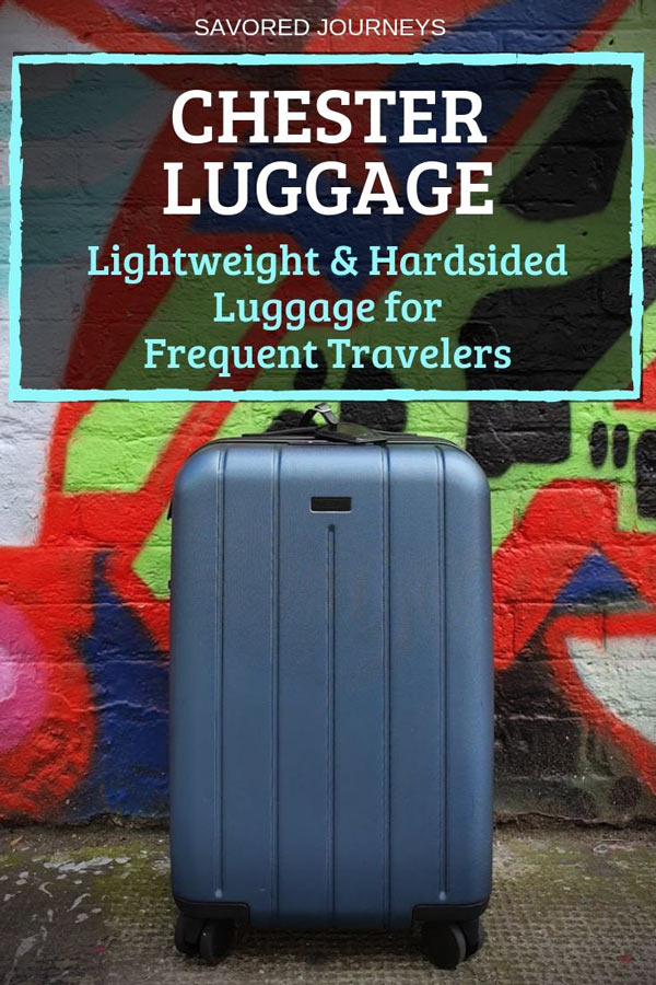 Lightweight, hardsided suitcase for frequent travelers