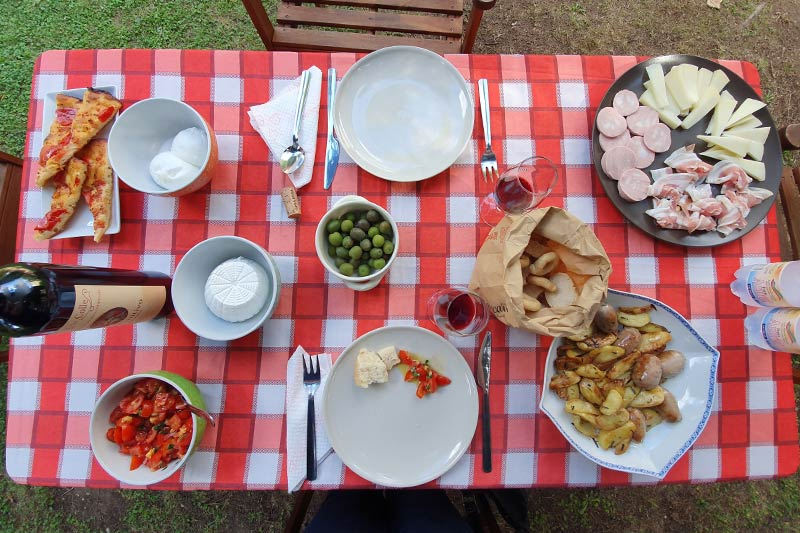 Terra Jovia wine lunch