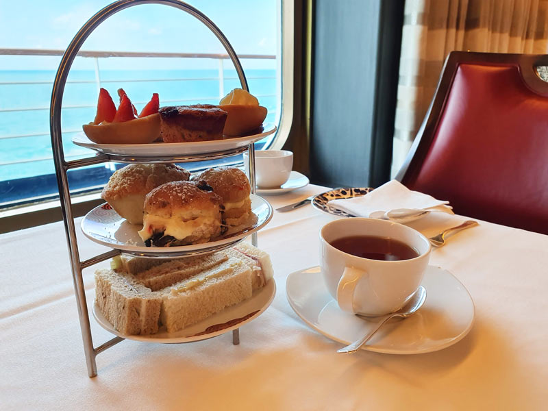 Afternoon tea on a crusie