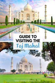 visiting the Taj Mahal
