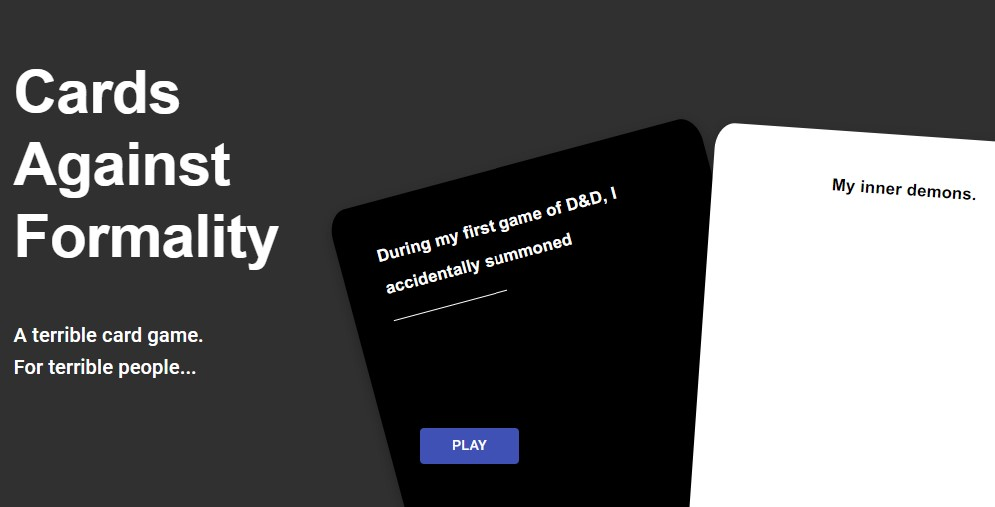 Cards against formality