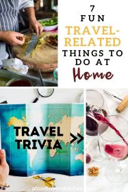 travel related things to do at home