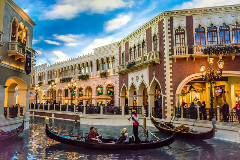 Venetian canal gondolas
