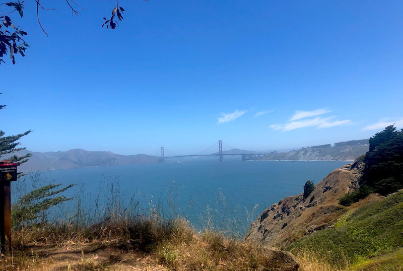 San Francisco view of the bridge