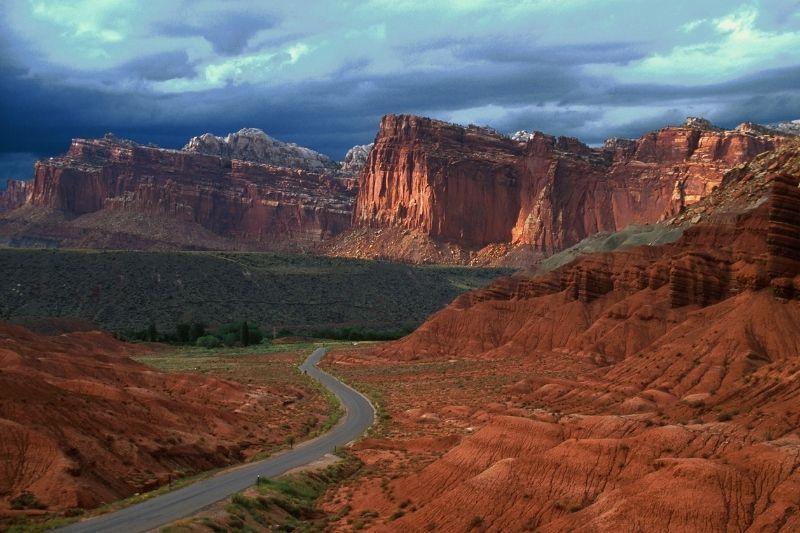 Red cliffside in Utah