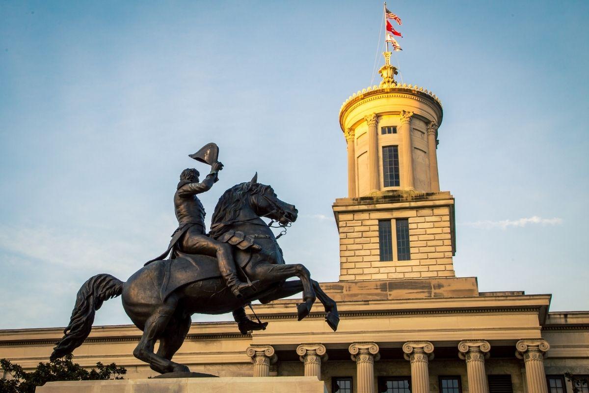 Andrew Jackson statue in Nashville
