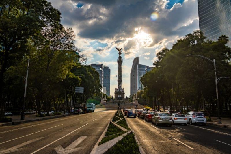 statue in a city