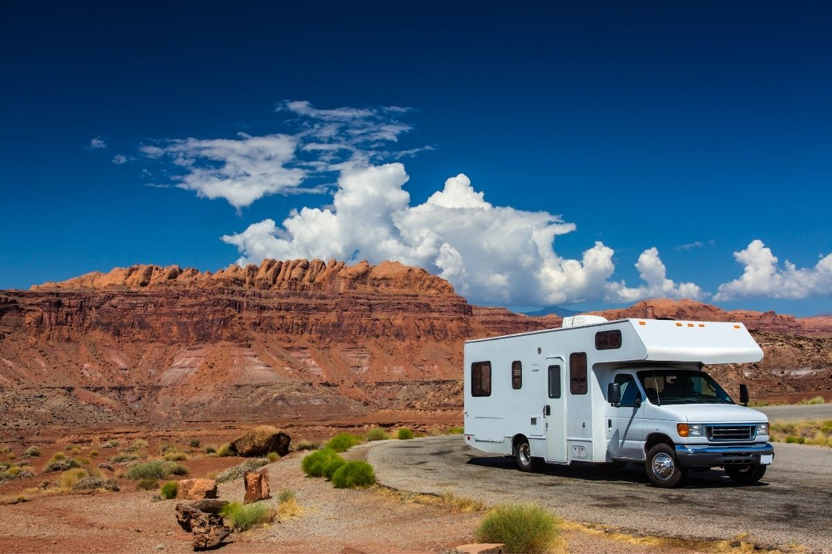 RV parked at a beautiful spot in Utah