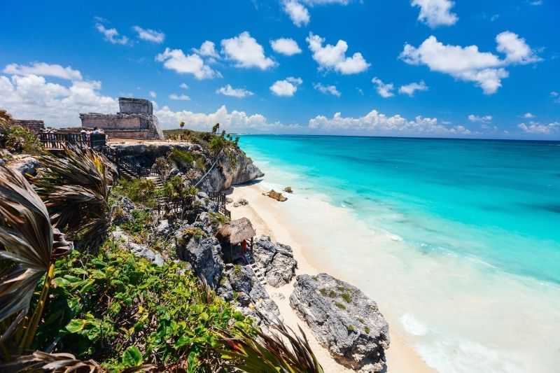 mayan ruins on coast