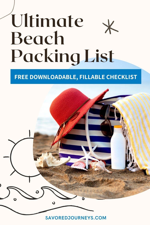 Beach packing checklist