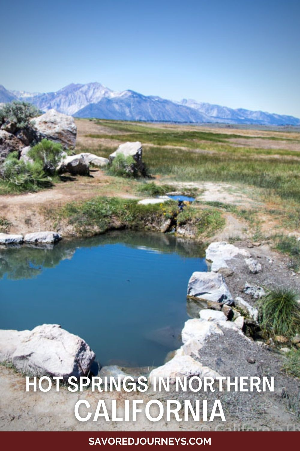 hot spring and mountains