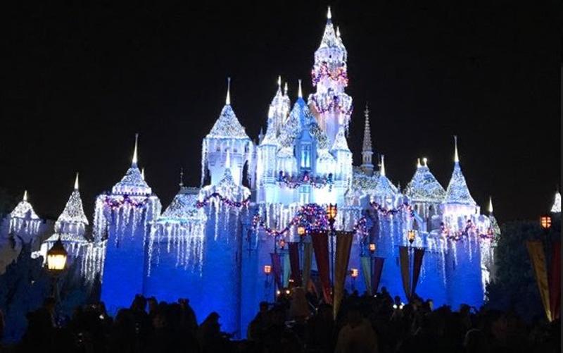 Cinderella's Castle at night