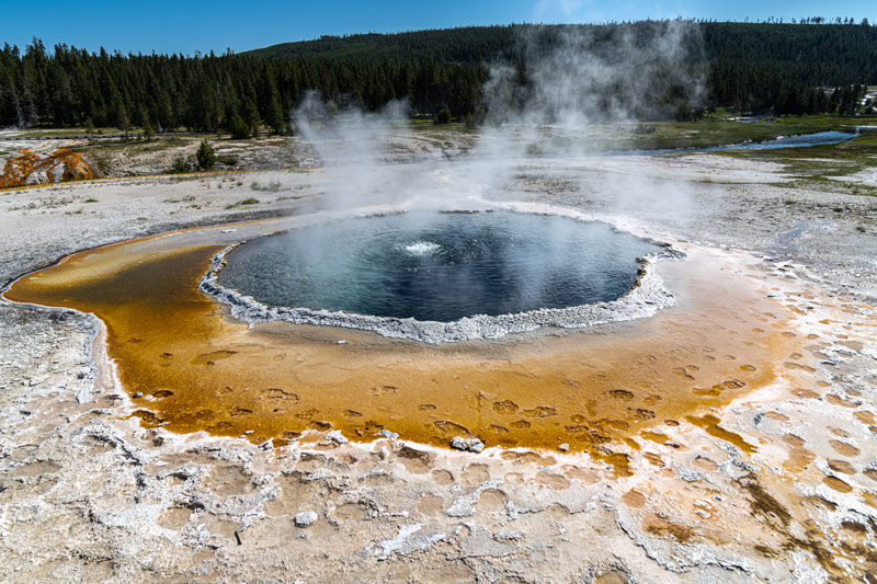 Crested Pool in the Upper Geyser Basin