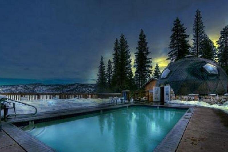 hot spring at night