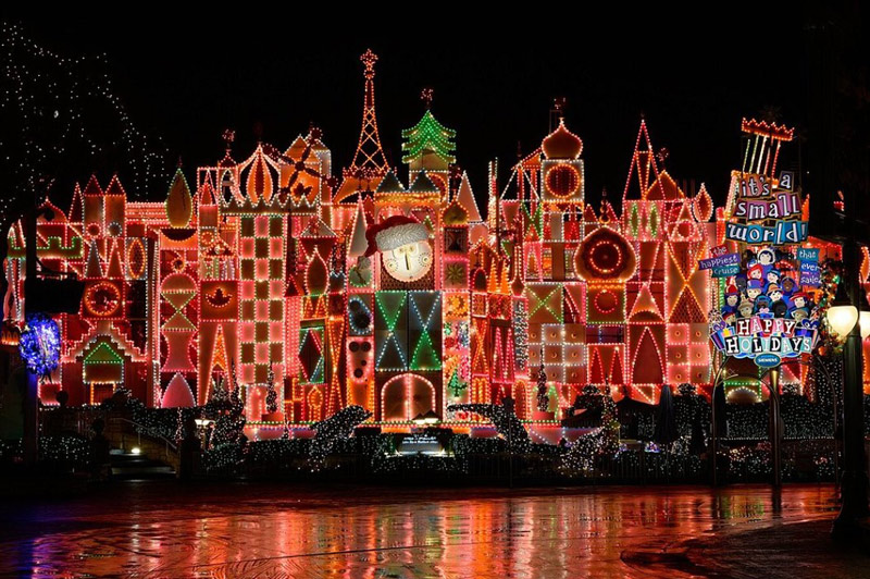 Disney's It's a Small World at Christmas time
