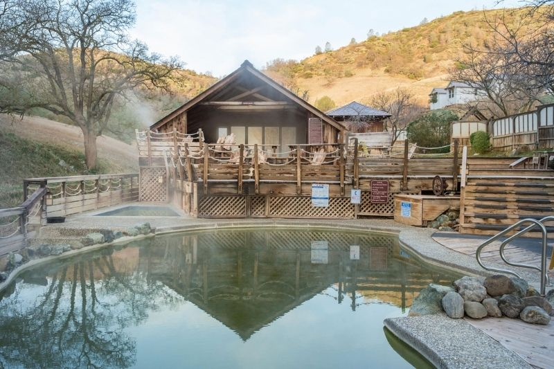hot spring and lodge