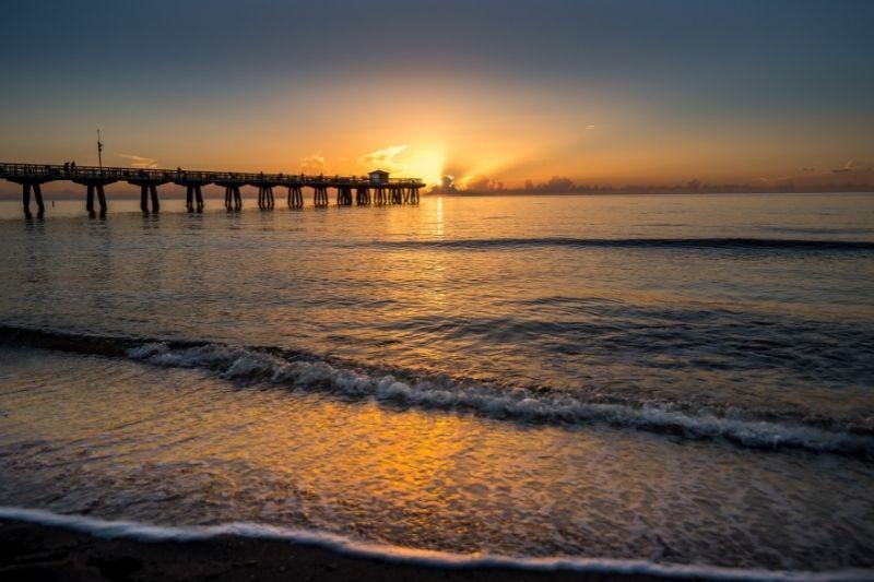 sunset at a florida pier