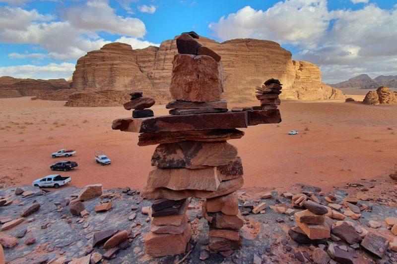 rock person in Wadi Rum
